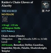 Raider's Chain Gloves of Alacrity