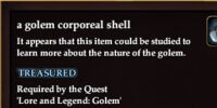 A golem corporeal shell