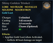 Shiny Golden Trinket