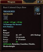Rust Colored Onyx Bow
