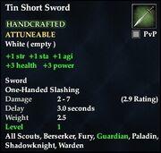 Tin Short Sword