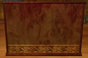 Large redwood room divider (Visible)