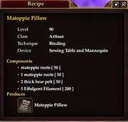 Matoppie Pillow (Recipe)