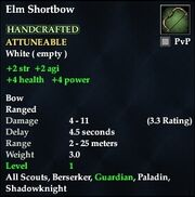 Elm Shortbow