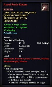 Astral Runic Katana