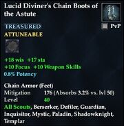 Lucid Diviner's Chain Boots of the Astute