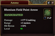 Rhenium Field Point Arrow