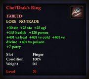 Chel'Drak's Ring