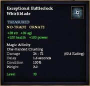 Exceptional Battleclock Whirliblade