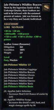 Jale Phlintoe's Wildfire Bracers