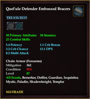 Quel'ule Defender Embossed Bracers