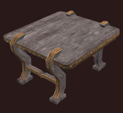 A Small Ornate Freeport Table Placed