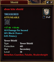 Ebon kite shield