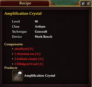 Amplification Crystal (Recipe)