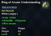 Ring of Arcane Understanding