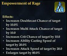Empowerment of Rage