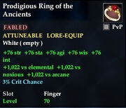 Prodigious Ring of the Ancients