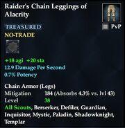 Raider's Chain Leggings of Alacrity