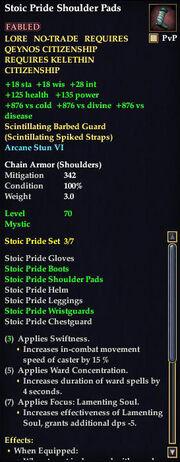 Stoic Pride Shoulder Pads