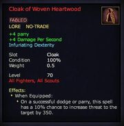Cloak of Woven Heartwood