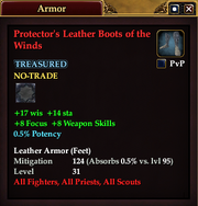 Protector's Leather Boots of the Winds