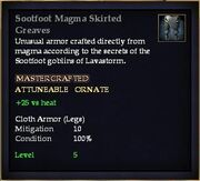 Sootfoot Magma Skirted Greaves