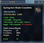 Springview Healer Gauntlets