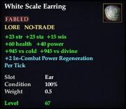 White Scale Earring