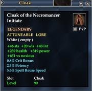 Cloak of the Necromancer Initiate