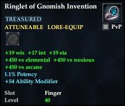 Ringlet of Gnomish Invention