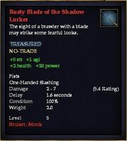 Rusty Blade of the Shadow Lurker