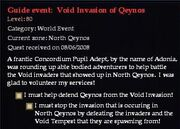 Guide event - Void Invasion of Qeynos