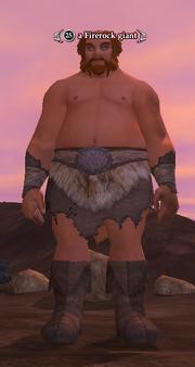 A Firerock giant