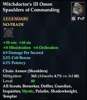 Witchdoctor's Ill Omen Spaulders of Commanding