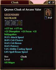 Qeynos Cloak of Arcane Valor