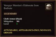 Vesspyr Warrior's Elaborate Iron Barbute