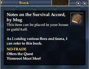 Notes on the Survival Accord, by Mug