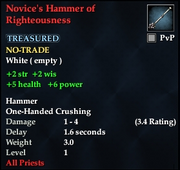 Novice's Hammer of Righteousness