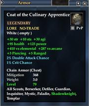 Coat of the Culinary Apprentice