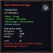 Dark Sabatons of Rage