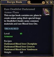 Rare Deathfist Darkruned Armor Plans
