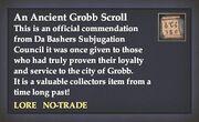 An Ancient Grobb Scroll