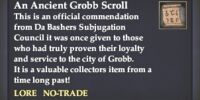 An Ancient Grobb Scroll
