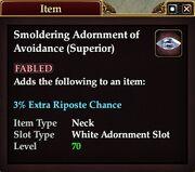 Smoldering Adornment of Avoidance (Superior)