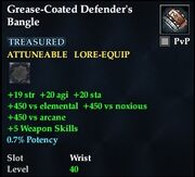 Grease-Coated Defender's Bangle