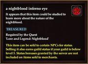 A nightblood inferno eye
