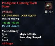 Prodigious Glowing Black Stone