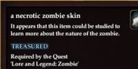 A necrotic zombie skin