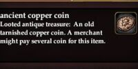 Ancient copper coin