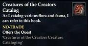 Creatures of the Creators Catalog